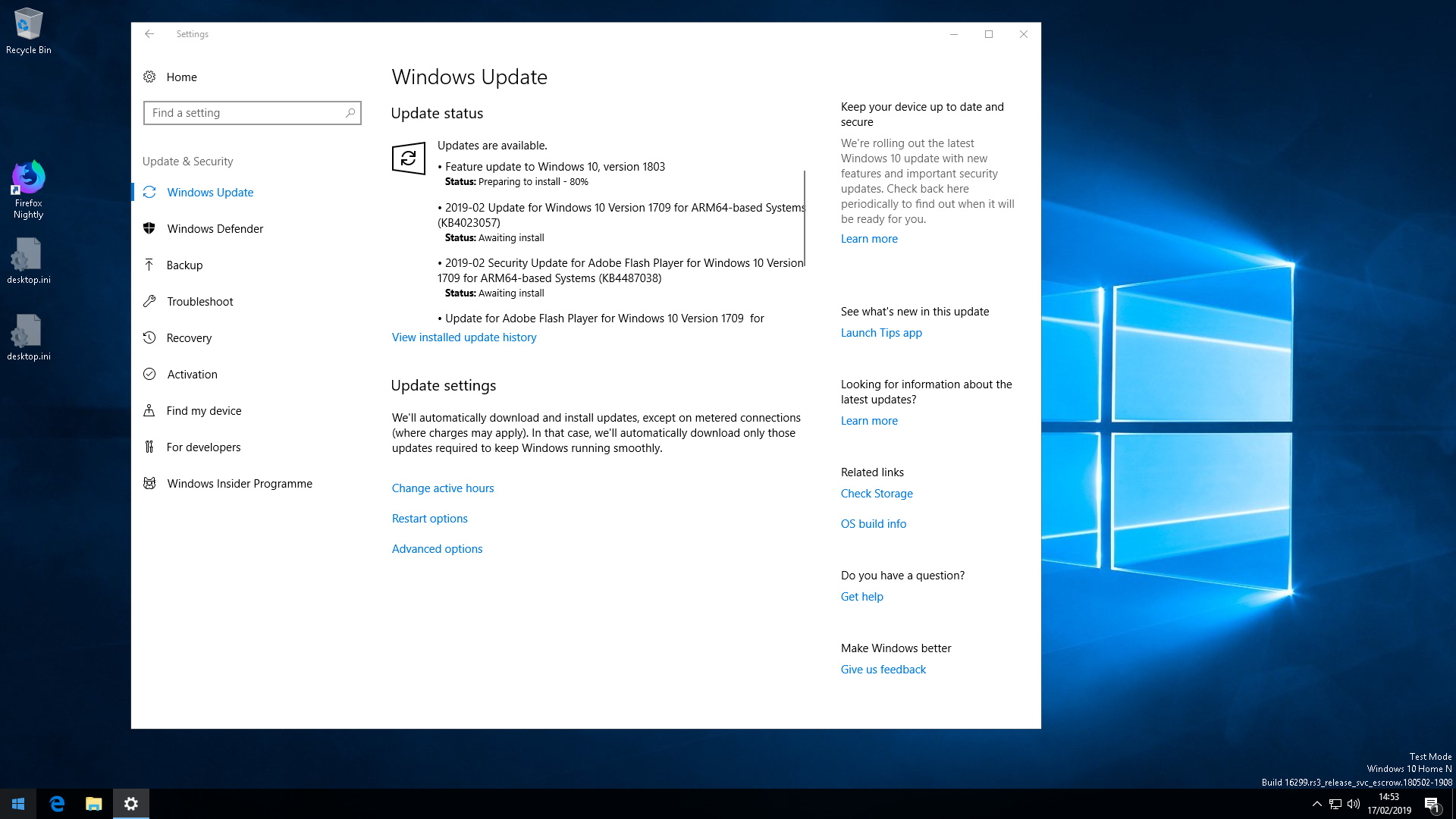 Known working builds? - Windows Logistics - discourse pi64 win