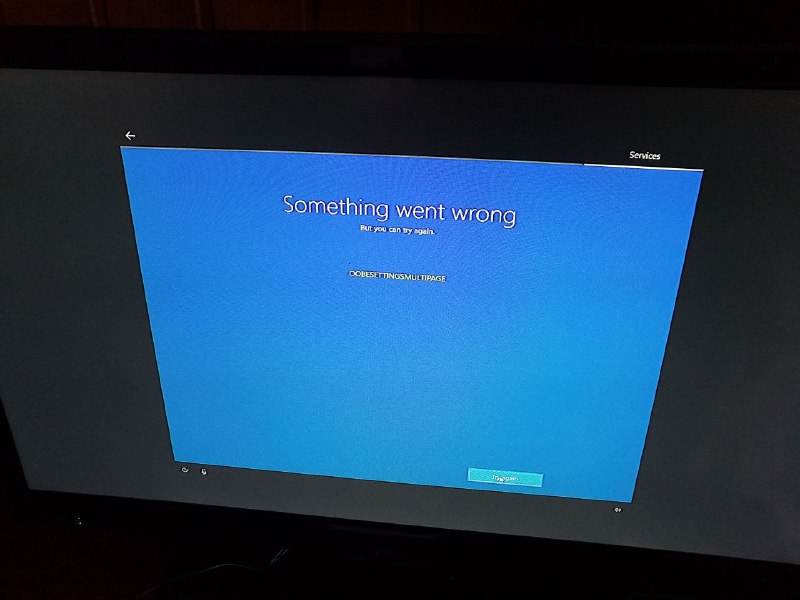 OOBE error on build 18334 - Help & Troubleshooting